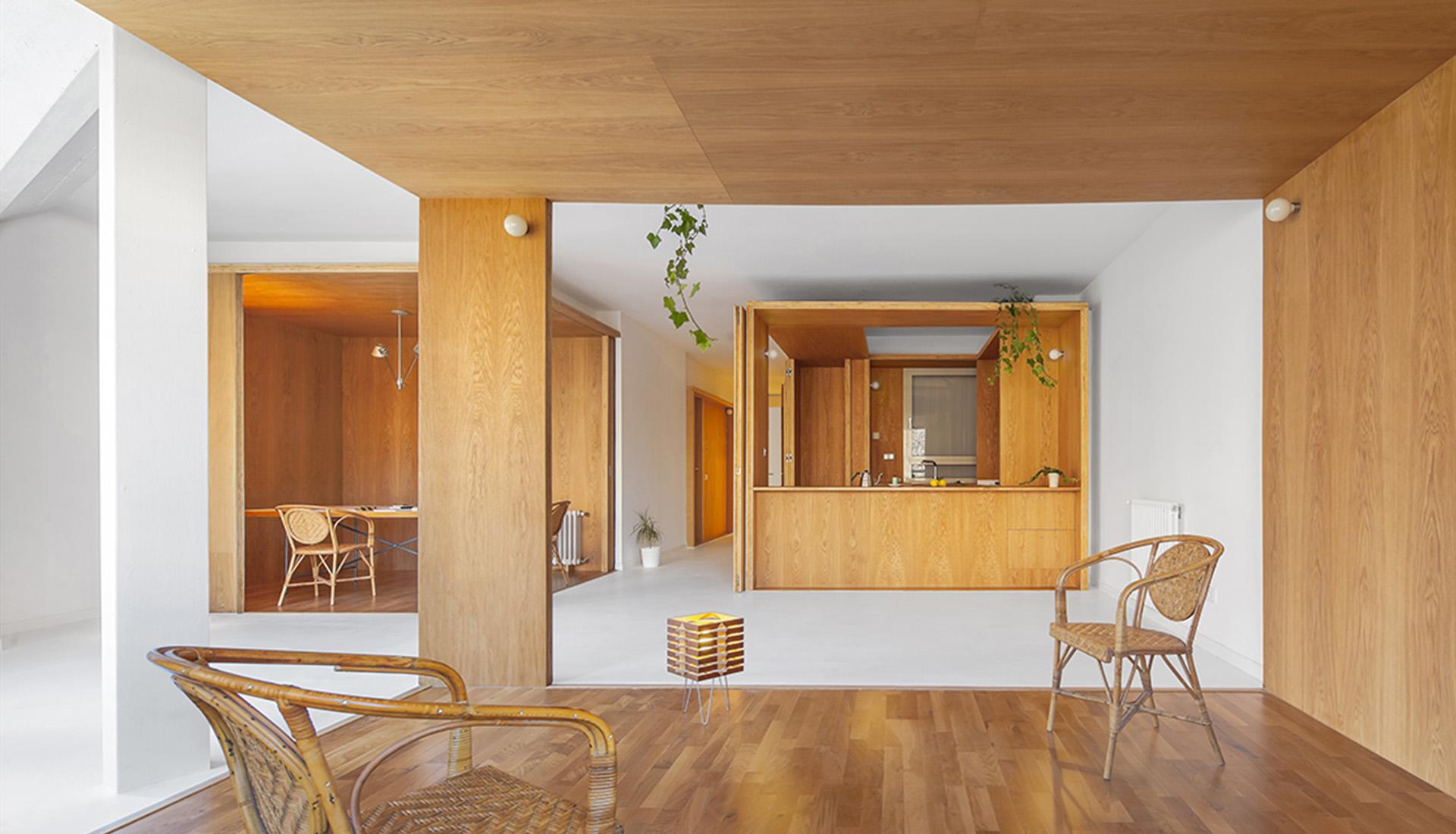 Sala de estar - rehabilitación arquitectónica - apartamento extenso-intenso - Barcelona