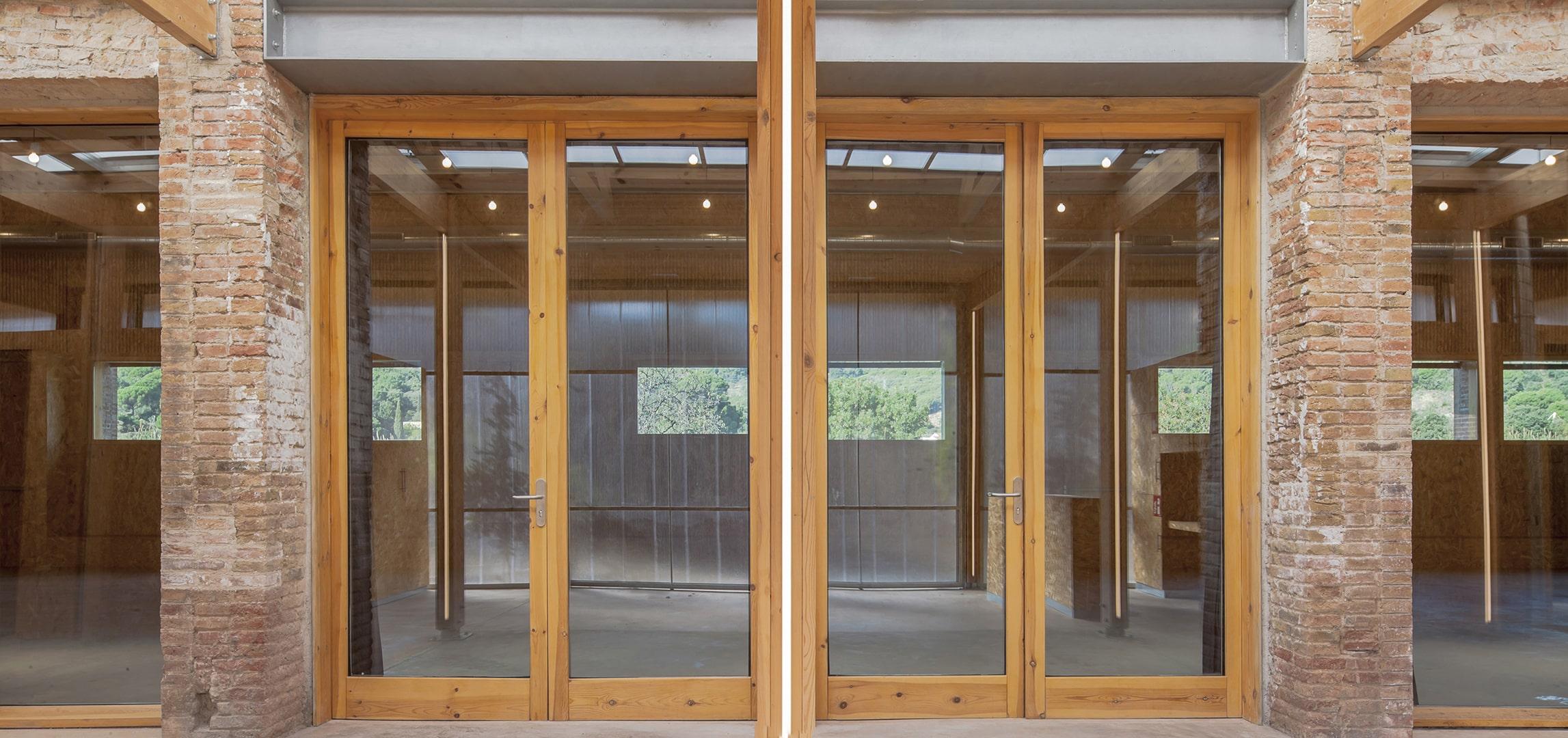 Interior del porche de la rehabilitación de Can Luna