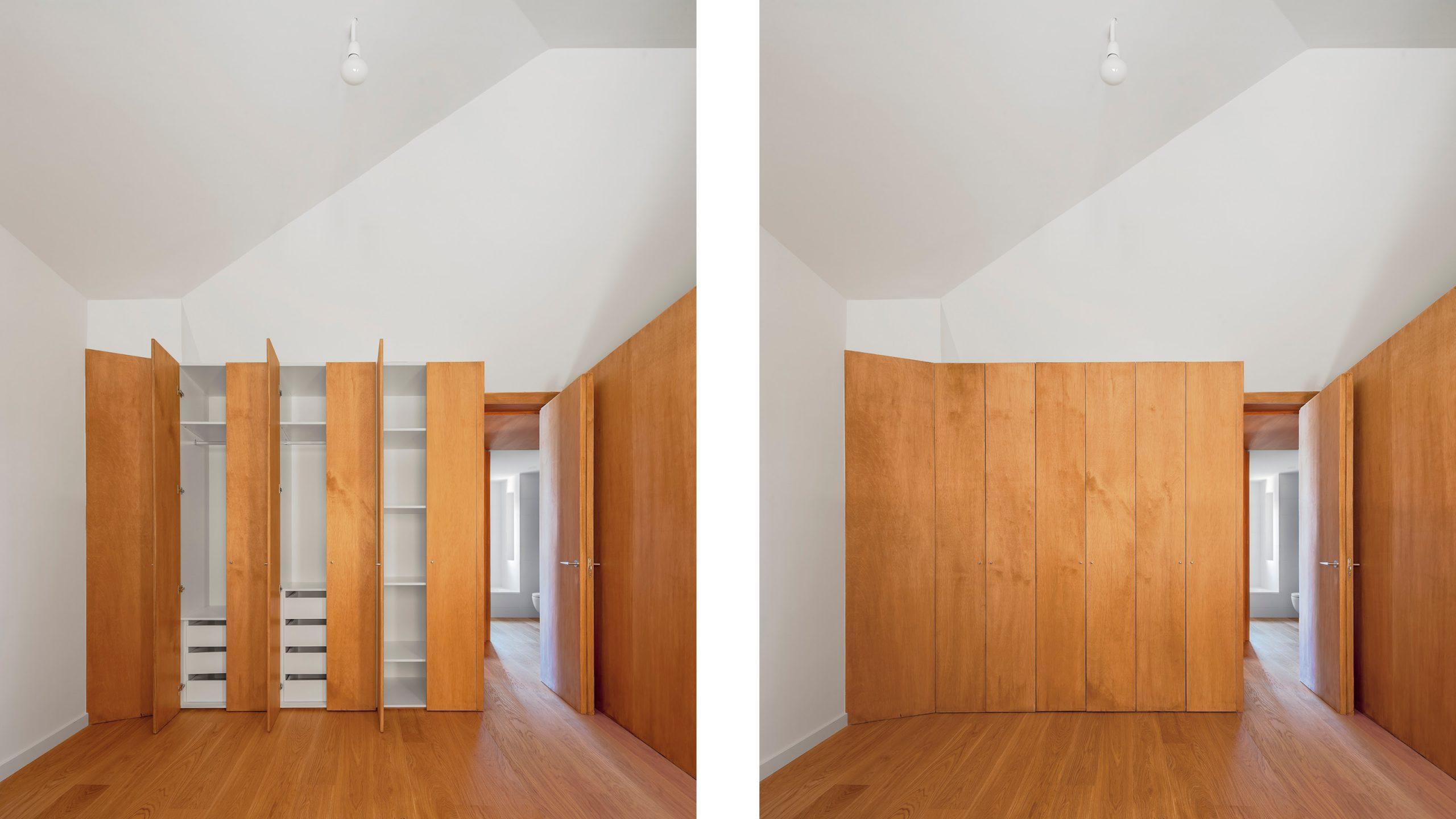 Habitaciones del piso superior de la casa Centrifuga-Centripeta