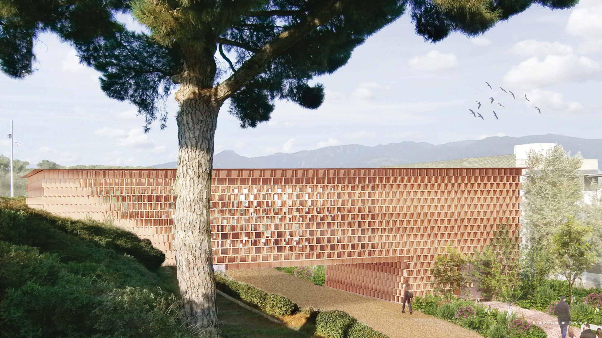Imagen exterior para la propuesta de un nuevo showroom para Lamigraf