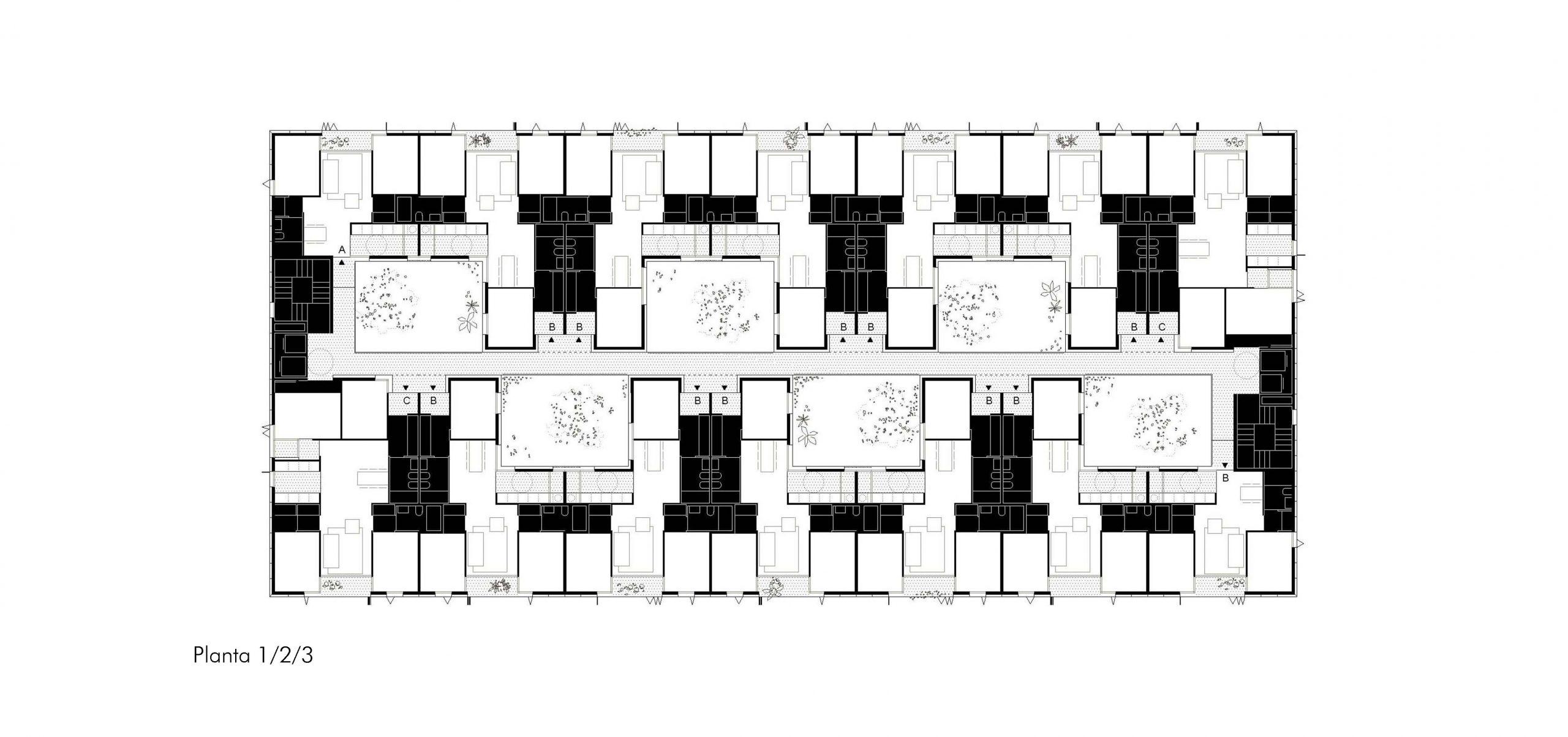 plano planta 1-2-3